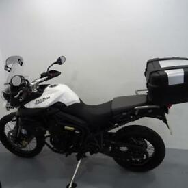 TRIUMPH TIGER 800-XC. ONLY 713 MILES STAFFORD MOTORCYCLES LIMITED