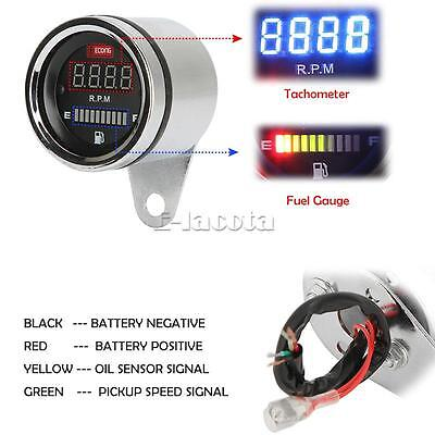 Vlx Shadow (LED Tachometer Fuel Gauge Fit for Honda Shadow Aero Phantom VLX 600 750 1100 )
