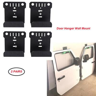 4 Pcs Metal Door Hanger Wall Mount For Jeep Wrangler CJ YJ TJ LJ JK JKU JL 1990 Jeep Wrangler Door