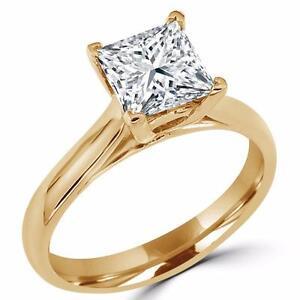 SOLITAIRE PRINCESS CUT DIAMOND ENGAGEMENT RING 1.25 CARAT / BAGUE DE FIANCAILLES DIAMANT SOLITAIRE PRINCESSE 1.25 CT