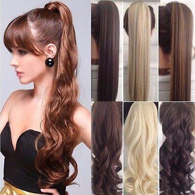 Luxury Clip in Hairextensions Pferdeschwanz Zopf Haarverlängerung Perücke Haare (Perücke Hair Extensions)