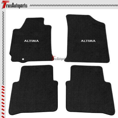Fits 07-12 Nissan Altima 4DR Floor Mats Black Nylon Carpets 4PCS Full Set