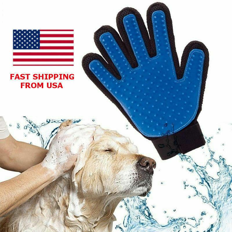 Deshedding Pet Dog Cat Grooming Glove Hair Fur Removal Brush Massage Tool Brushes, Combs & Rakes
