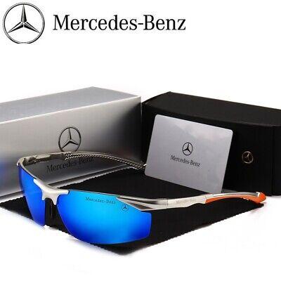 Neu Benz Luxuriös Sonnenbrillen Herren Outdoor-Sport + Silber Geschenkbox - Herren Brillen