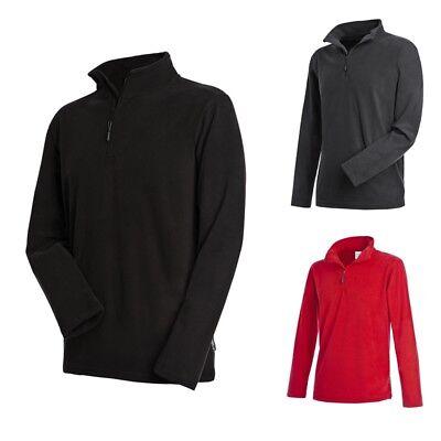 Stedman: dünner Herren Fleece Pullover * Outdoor Half Zip Shirt Men Neu ST5020 *
