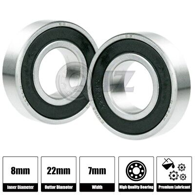 2x 608 Ball Bearing Abec 5 Hi-quality Bearing Skate Board Longboard Replacement