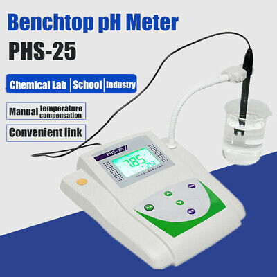 Lab Benchtop Ph Meter Tester Desktop Acidity Meter W Temperature Compensation