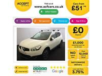 NISSAN QASHQAI+2 WHITE HATCHBACK 1.5 1.7 DCI TEKNA FROM £51 PER WEEK!