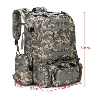 55L Large Military Tactical Backpack Army Assault Pack Molle Gear Bug Out Bag (Molle Assault Backpack)