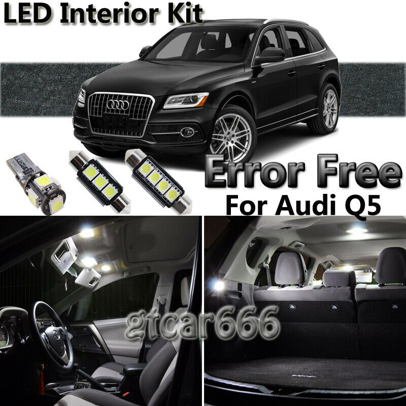 18x White LED Lights Interior Package Deal For 2013 2014 2015 2016 Audi Q5