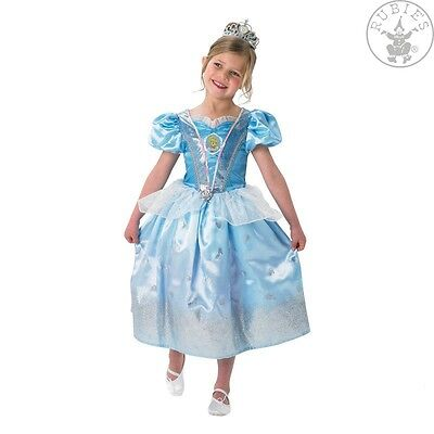 Cinderella Glitter Kostüm M L Fasching Karneval Prinzessin Disney - Prinzessin Glitter Kostüm