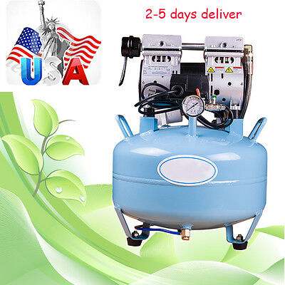 Usa 30l Dental Unit Silent Noiseless Oil Fume Oilless Air Compressor 130lmin Aa