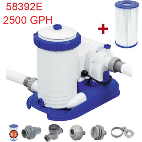 Bestway 2500 GPH Filter Pump for Above Ground Swimming Pool 58392E Professional
