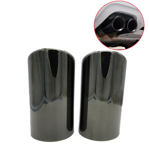 2 Pcs Stainless Steel Novel Exhaust Muffler Tail Pipe Tips fit for Audi A4 B8 Q5
