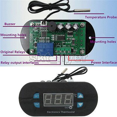 Digital Thermostat Temperature Alarm Controller Sensor Meter Acdc12v 24v 220v