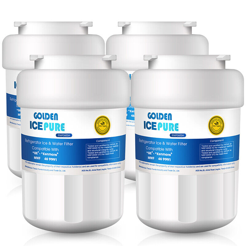 Fit For Ge Mwf Smartwater Mwfp Gwf Refrigerator Water Filter 4 Pack