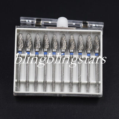 1 Set Dental F6 Carbide Burs Lab Tooth Drill Tungsten Steel 2.35mm Grinder Bit