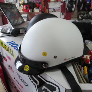 009 CRUISER Beanie Matte White Helmet NEW Narrow Style. Re-Gear