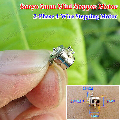 Sanyo 2-phase 4-wire Mini 5mm Precision Stepper Motor Micro Stepping Motor Diy
