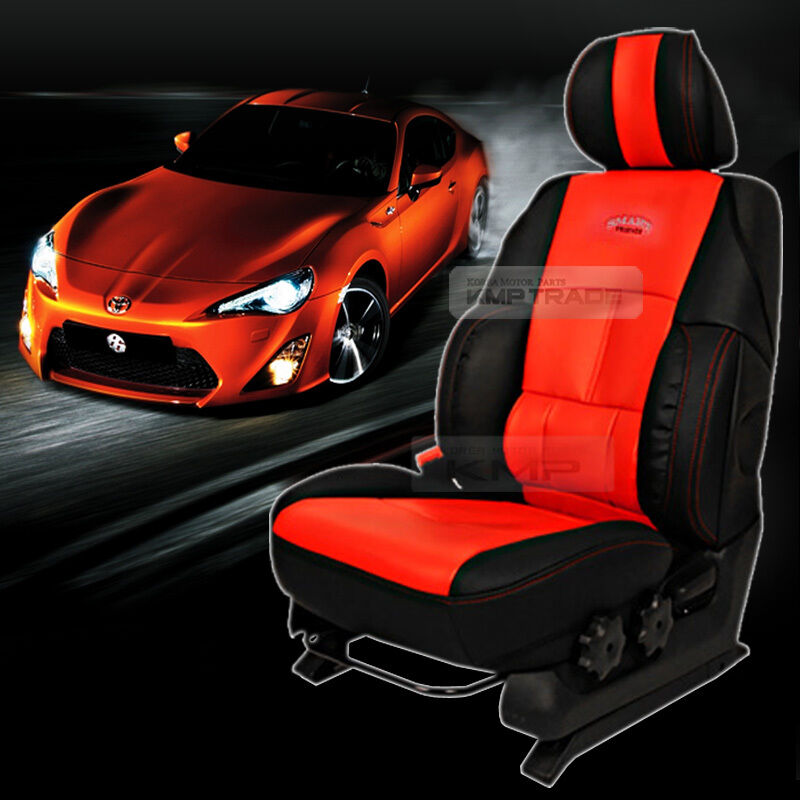 Sports Bucket Car Seat Cover Cushion Leather Ergonomic Red For UNIVERSAL Car