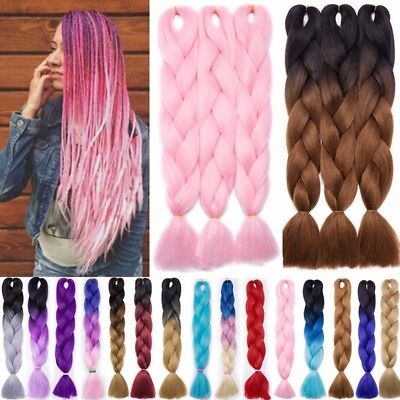 rlängerung Zopf Colorful Pink Braiding Hair Extensions Braid (Pink Hair Extensions)