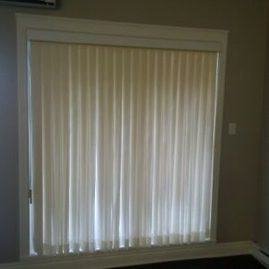 Patio verticals with built-in sheers by Hunter Douglas