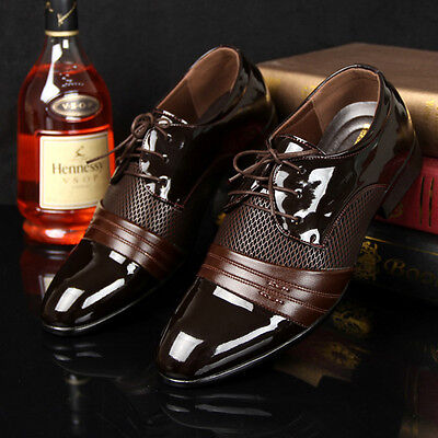 Men's Leather Shoes New Dress Formal Oxfords Business Casual Fashion Large Size