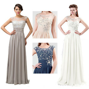 Applique-Evening-Formal-Gowns-Bridesmaid-wedding-dresses-Party-prom-dress-2015