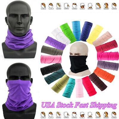 4PCS Multifunctional Tube Scarf Bandana Mask Neck Gaiter Snood Headwear Beanie