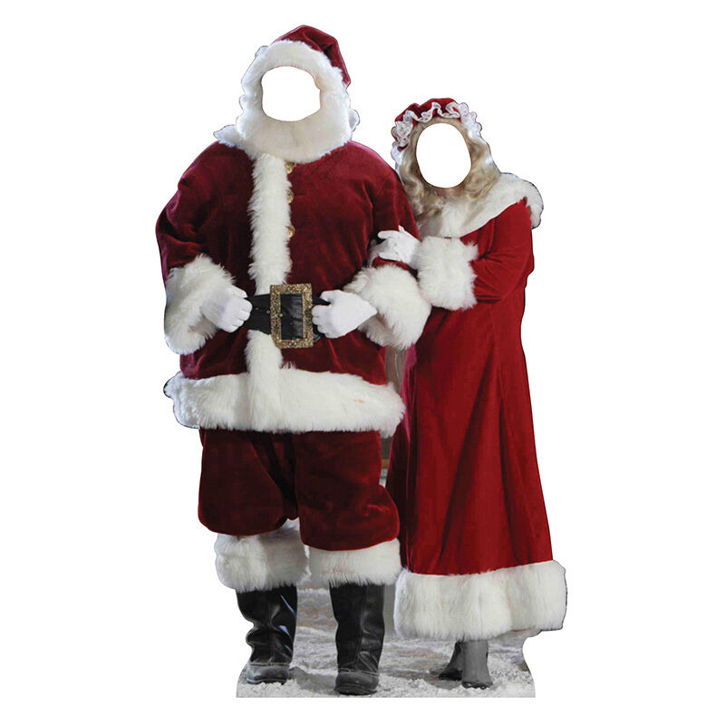 MR & MRS SANTA CLAUS Christmas CARDBOARD CUTOUT Stand-In Standin Standup Standee