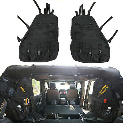 2X Roll Bar Storage Bag with Multi-Pockets for Jeep Wrangler JK 2007-2018 4-Door (Bag Jeep Wrangler)