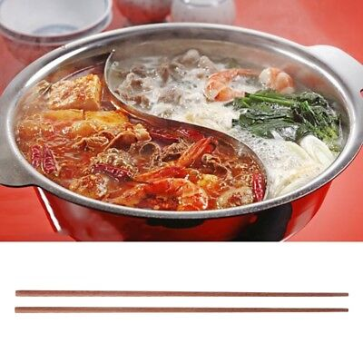 42cm Handmade Wood Wooden Durable Chopsticks Noodles Cooking Cutlery Portable