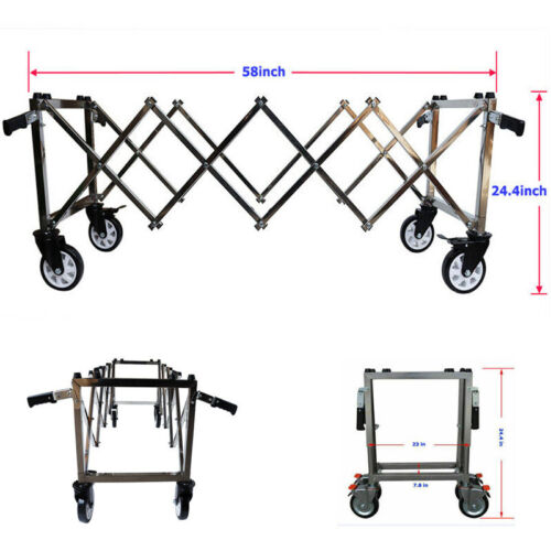 Stainless flexible Funeral Church Truck with 4 handle 58*23*24.4 in