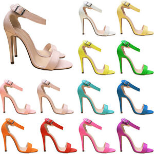 Girls-Ladies-Womens-Party-Toe-Bridal-Patent-High-Heels-Shoes-Sandals-UK-Size-2-9
