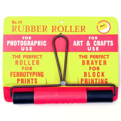 TESTRITE #28 Rubber Roller for Ferrotype Printing / Brayer for Block Printing