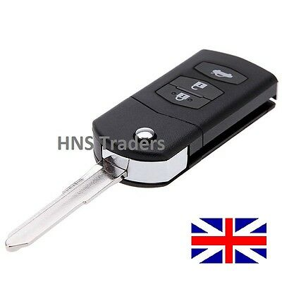3 Button for MAZDA 2 3 5 6 RX8 MX5 FLIP REMOTE KEY FOB CASE WITH BLADE +logo A71