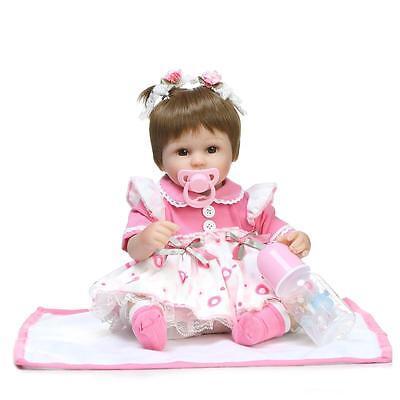 Realistic Handmade Soft Silicone Reborn Baby Girl Doll Lifelike Vinyl Newborn