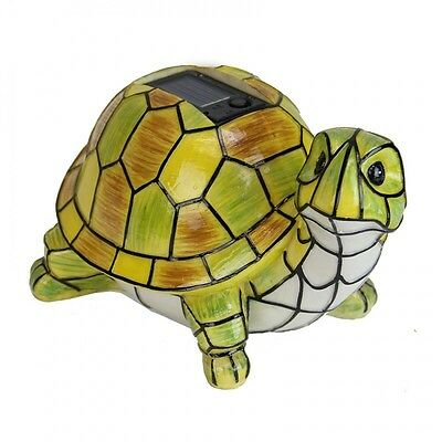 Solar Powered Garden Decor Art Turtle Statue Outdoor Patio Yard Lawn LED Light