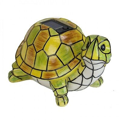 For sale Solar Powered Garden Decor Art Turtle Statue Outdoor Patio Yard Lawn LED Light