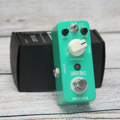 Mooer Green Mile Overdrive Guitar Bass Effect Pedal Warm / Hot Effect Modes