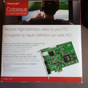 Hauppauge! Colossus HD video recorder card; model 1429