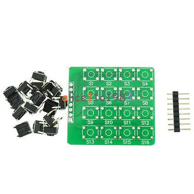 4x4 44 Matrix Keypad Keyboard Module 16 Botton Mcu For Arduino Diy