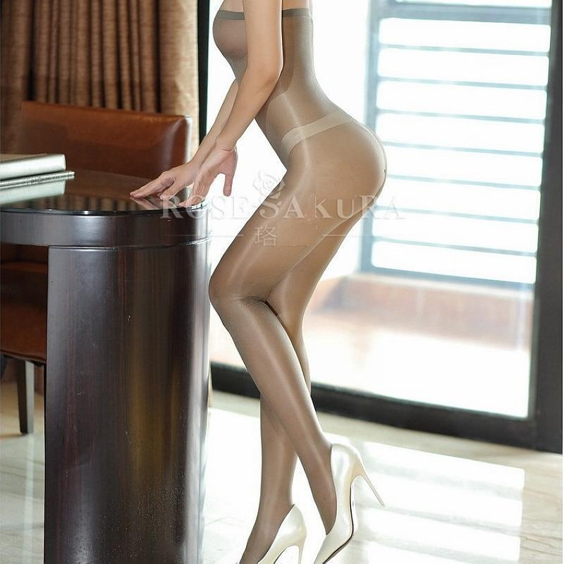 e9beab68c9f Women Shiny Sheer Glossy Tights Pantyhose Lingerie Crotchless Bodystocking  gray
