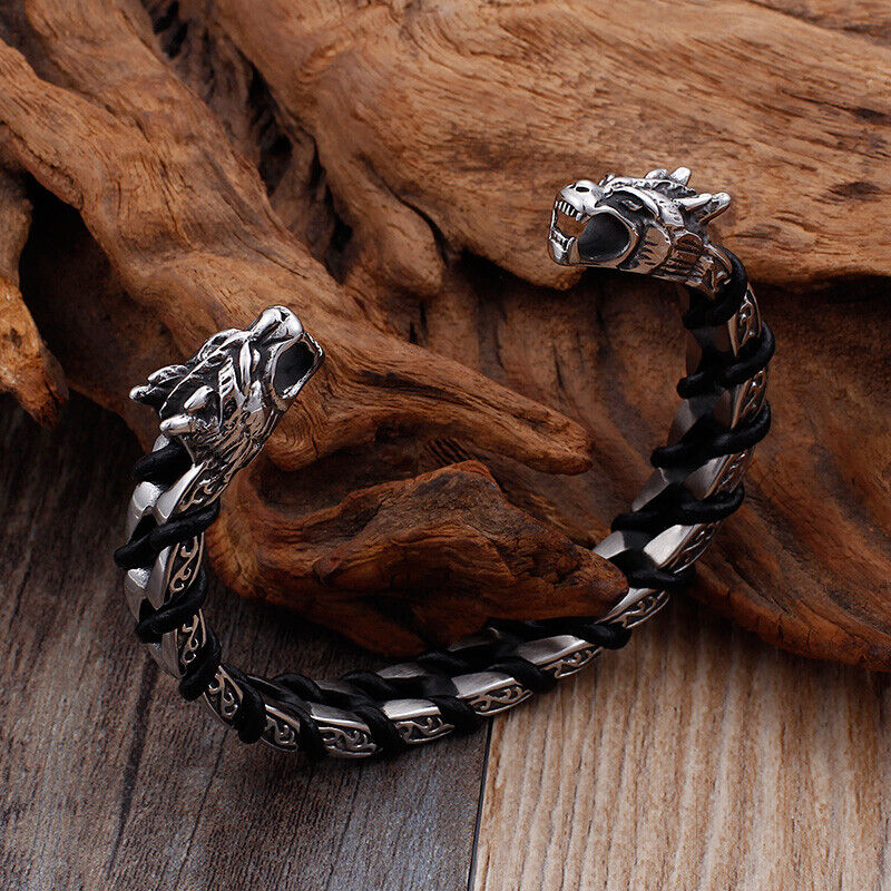 dragon bracelet stainless steel norse arm ring