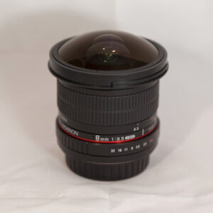 Rokinon 8mm f/3.5 HD Fisheye Lens For Canon excellent condition