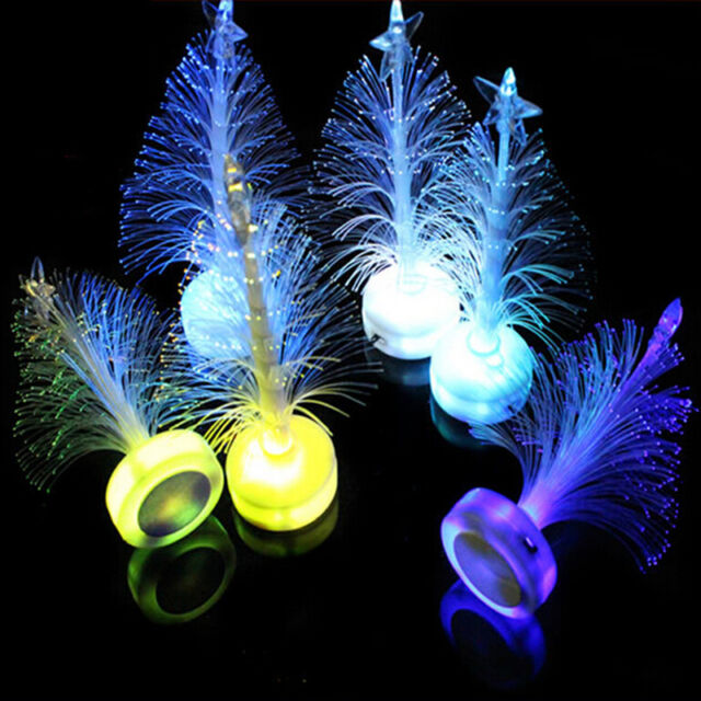 Colorful LED Fiber Optic Nightlight Christmas Tree Lamp Light Children Xmas FG