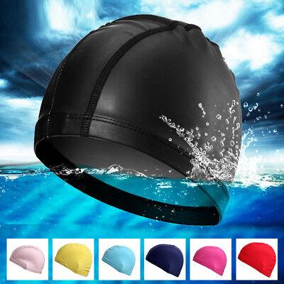 Adult Unisex Soft Cap Lycra Bathing Hat Swimming Cap Fabric Waterproof Elastic
