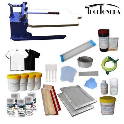 1 Color Screen Printing Kit Start Hobby Press Printer Diy Ink Screens Supply