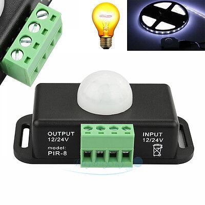 - Automatic DC12V-24V Body Infrared PIR Motion Sensor Detector Switch For Light