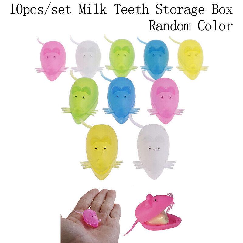 10Pcs Mini Plastic Baby Milk Teeth Holder Organizer Box Save Tooth Storage Y*AA